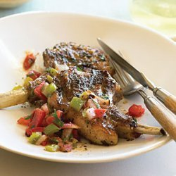 Lamb Chops with Roasted Salsa recipe