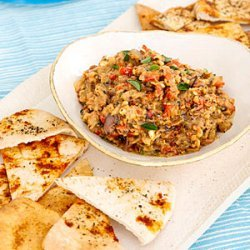 Grilled Vegetable Dip with Pita Chips recipe