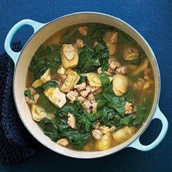 Italian Chicken Sausage and Artichoke Soup recipe
