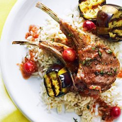 Grilled Lamb Chops with Turkish Grape Sauce recipe