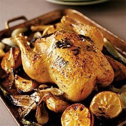 Roasted Chicken with Fennel and Lemon recipe