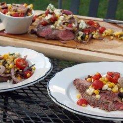 Flank Steak With Tomato-Olive Relish recipe