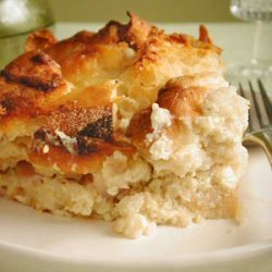 English Muffin Strata with Ham and Cheese recipe