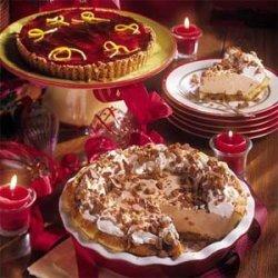 Mascarpone Cream Pie with Berry Glaze recipe