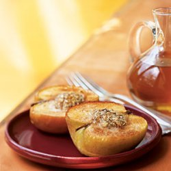 Almond-Stuffed Baked Apples with Caramel-Apple Sauce recipe