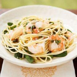 Lemon Basil Shrimp and Pasta recipe