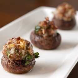 Sausage Stuffed Mushrooms smaller edition recipe