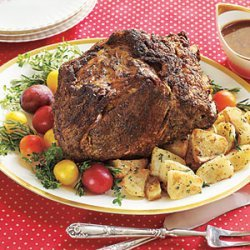 Rib Roast with Red-Wine Gravy recipe