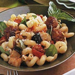 Pasta with Sausage, Eggplant and Basil recipe