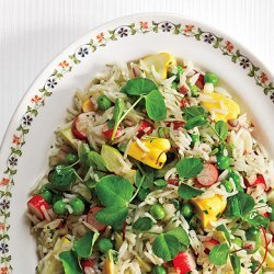 Basmati Rice with Summer Vegetable Salad recipe