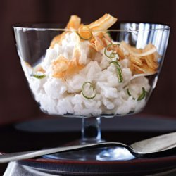Coconut Rice Puddings with Crispy Coconut recipe