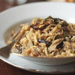 Risotto with Leeks, Shiitake Mushrooms, and Truffles recipe