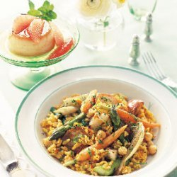 Spring Vegetable Paella recipe