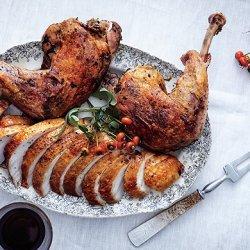 Brined Roast Turkey Breast with Confit Legs recipe