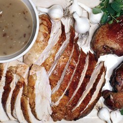 Salted Roast Turkey with Herbs and Shallot-Dijon Gravy recipe