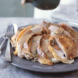 Herb and Mustard Turkey with Green Onion Gravy recipe