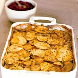 Yukon Gold and Sweet Potato Gratin recipe