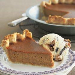 Caramel-Pumpkin Pie with Mincemeat Ice Cream recipe