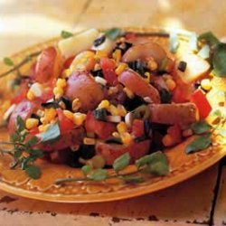 Potato Salad with Chilies and Corn recipe