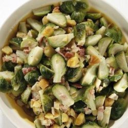Brussels Sprouts with Chestnuts and Bacon recipe