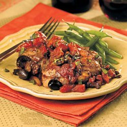 Chicken Thighs with Tomatoes and Olives recipe