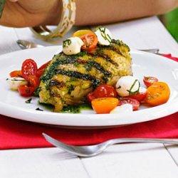 Garlic-Basil Grilled Chicken with Caprese Salsa recipe