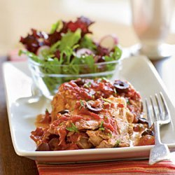 Chicken Thighs with Olives and Tomato Sauce recipe