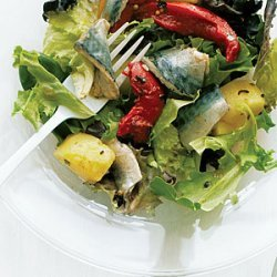 Pickled Fish Salad with Potatoes and Greens recipe