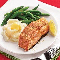Seared Sesame-Crusted Salmon recipe