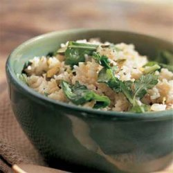 Rice Pilaf with Arugula and Pistachios recipe