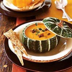Pumpkin Soup with Candied Pumpkin Seeds recipe