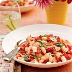 Warm Tomato and White Bean Stew recipe