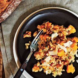 Roasted Butternut Squash Risotto with Sugared Walnuts recipe