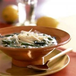 Cate's Springtime Risotto Soup recipe