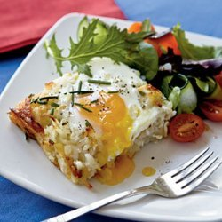 Rosti Casserole with Baked Eggs recipe