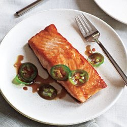 Seared Salmon with Jalapeño Ponzu recipe
