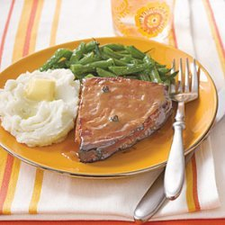 Ham Steaks with Honey-Mustard recipe
