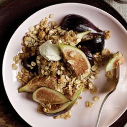 Drunken Figs with Black Pepper Granola recipe