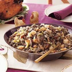 Slow-Cooker Wild Rice and Mushroom Stuffing recipe