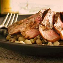 Sauteed Duck Breast with Peas recipe