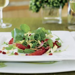 Watercress Endive Salad with Blood Oranges and Pomegranates recipe