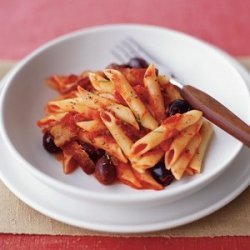 Penne With Bacon and Black Olives recipe