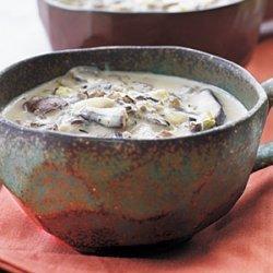 Fresh Ginger, Mushroom, and Basil Soup recipe