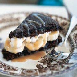 Chocolate Shortcakes with Bananas and Caramel recipe
