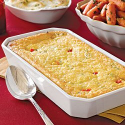 Corn Pudding with Scallions and Red Pepper recipe