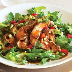 Hot Flank Steak Salad with Chinese Black Bean Dressing recipe