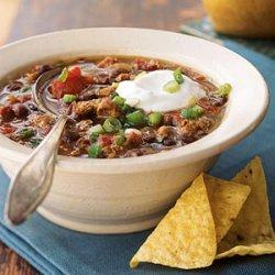 Mexican Black Bean Sausage Chili recipe
