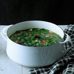 Red Russian Kale and Chorizo Soup (Caldo Verde) recipe