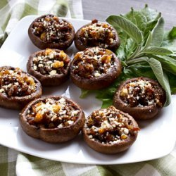 Sausage & Chestnut Stuffed Mushroom Caps recipe