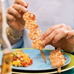 Grilled Shrimp with Mango and Red Onion Relish recipe